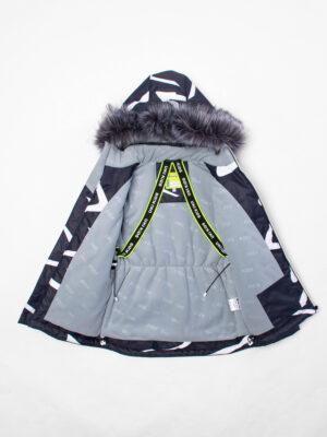 Комплект зимний UKI kids Зиг-заг черный-желтый 5