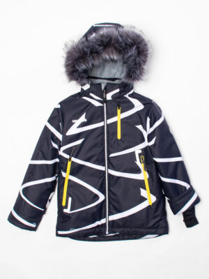 Комплект зимний UKI kids Зиг-заг черный-желтый 6