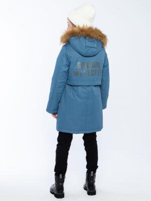 Парка зимняя для девочки Nikastyle 5з5221 джинсовый 2