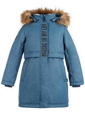 Парка зимняя для девочки Nikastyle 5з5221 джинсовый 3