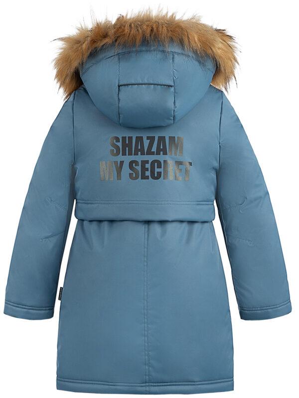 Парка зимняя для девочки Nikastyle 5з5221 джинсовый 4