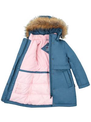 Парка зимняя для девочки Nikastyle 5з5221 джинсовый 5