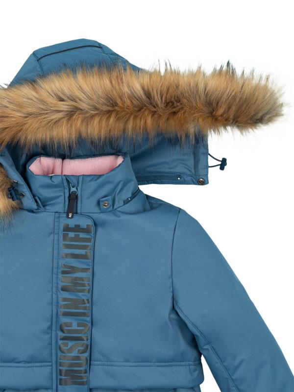 Парка зимняя для девочки Nikastyle 5з5221 джинсовый 6