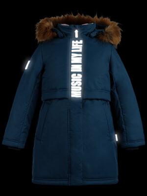 Парка зимняя для девочки Nikastyle 5з5221 джинсовый 8