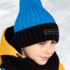 Шапка-резинка с отворотом зимняя Nikastyle 11з14921 голубой